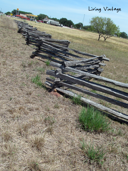 classic stacked cedar fencing - Living Vintage