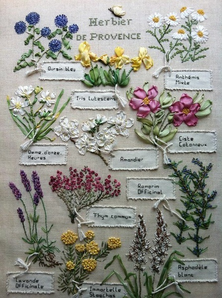 handiwork illustrating herbs de Provence - one of 8 picks for this week's Friday Favorites - Living Vintage