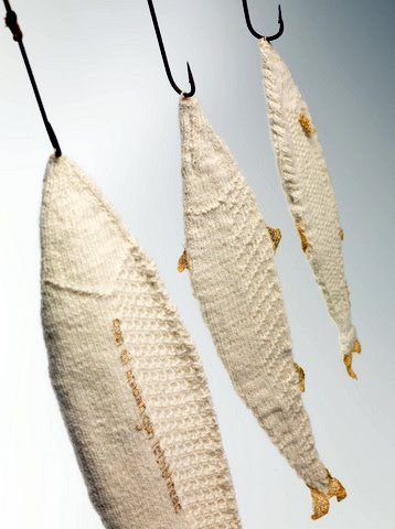 knitted fish - one of 8 picks for this week's Friday Favorites - Living Vintage