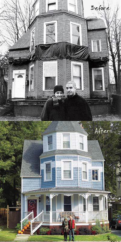 Before and After- The Wedding Cake House