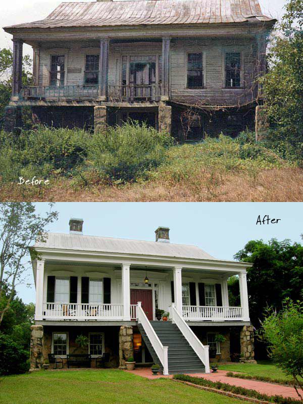 Greek Revival Sand Hill Cottage (Before and After) - Living Vintage