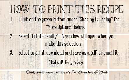 How to Print This Recipe
