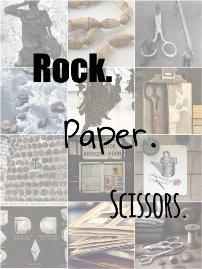 Rock.  Paper.  Scissors.  #3   -- Living Vintage