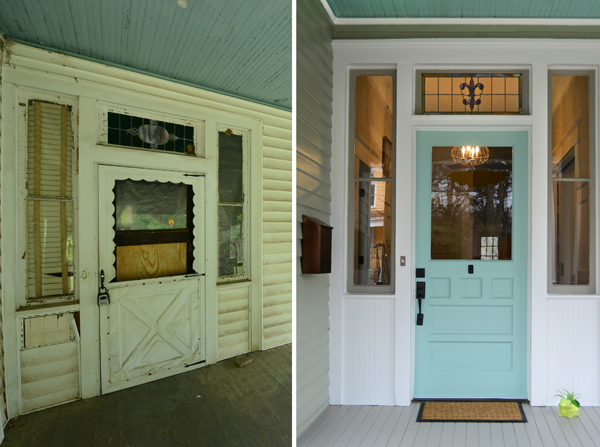 One Cool House  in Atlanta - The Front Door Before and After {Living Vintage)