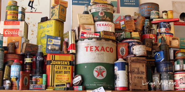 a neat vintage advertising collection seen in Jefferson, TX