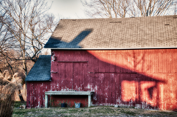 What draws your eye - the shadow or the barn - one of 8 picks for this week's Friday Favorites