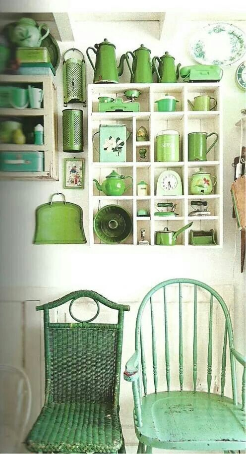 a pretty, green collection - one of 8 picks for this week's Friday Favorites - Living Vintage