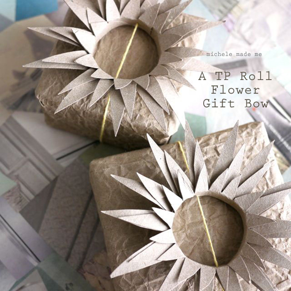 Bows using toilet paper rolls - one of 8 picks for this week's Friday Favorites