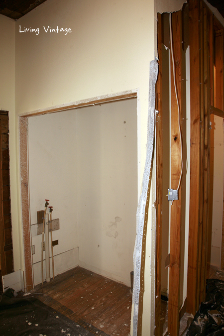 One closet that was used for the washer/dryer hookups.