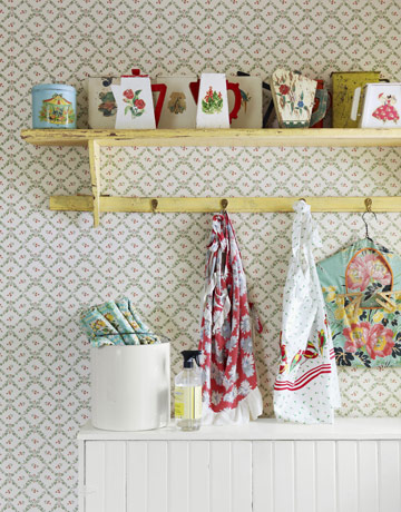 a love the little yellow shelf and the collectibles displayed on top - one of 8 picks for this week's Friday Favorites