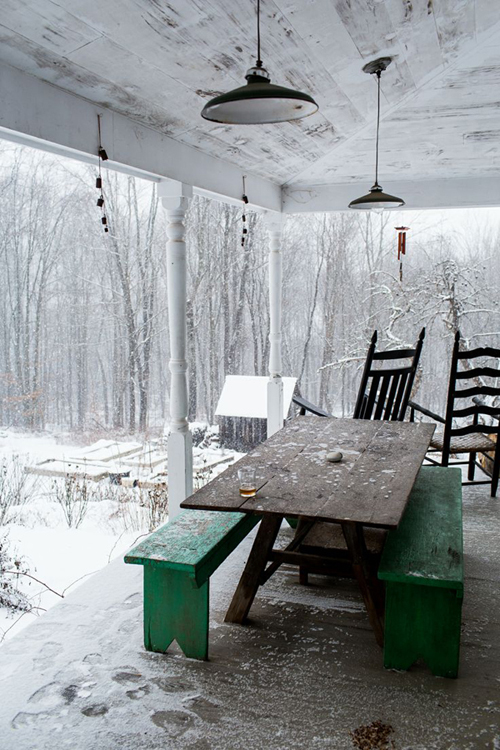 a porch in winter - one of 8 picks fro this week's Friday Favorites
