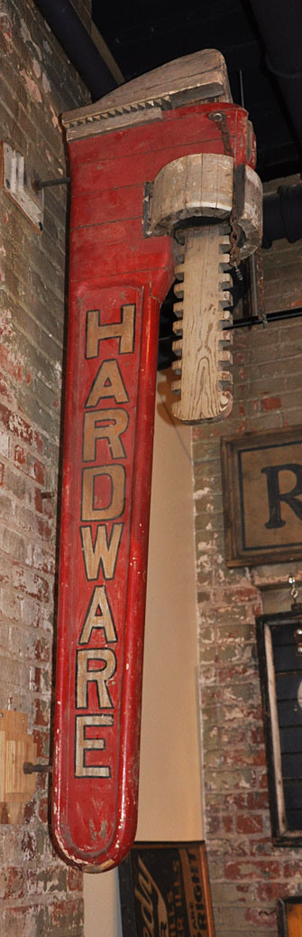 a stunning old hardware sign - one of 8 picks for this week's Friday Favorites