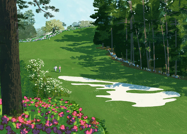 an illustrated golf course - one of 8 picks for this week's Friday Favorites
