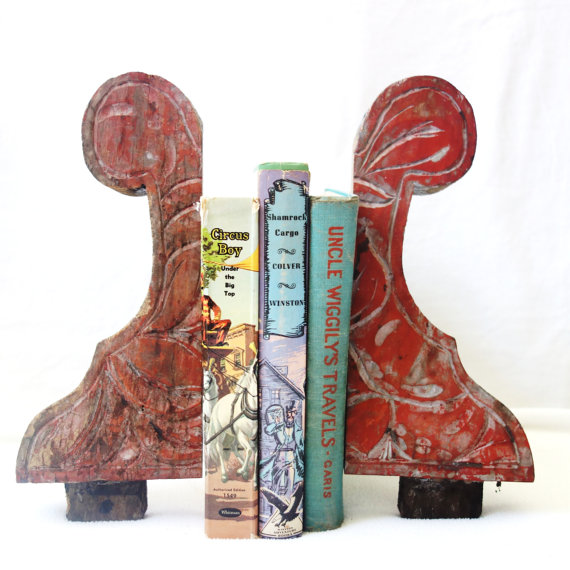 pretty architectural remnants repurposed as bookends - one of 8 picks for this week's Friday Favorites