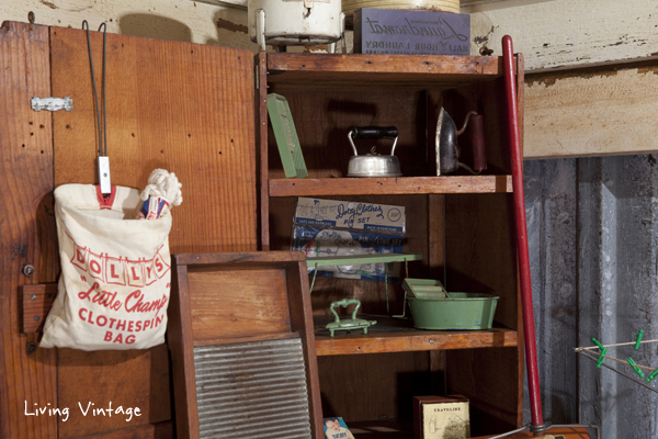 vintage laundry room collectibles