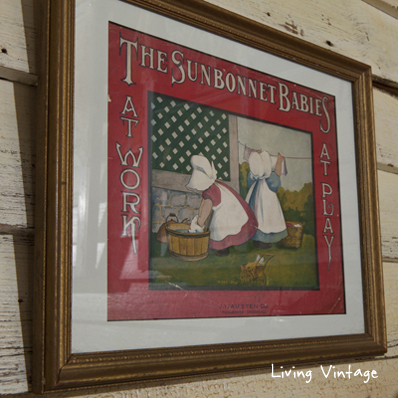 The Sunbonnet Babies at Work -- one of many vintage laundry collectibles shown in this post!