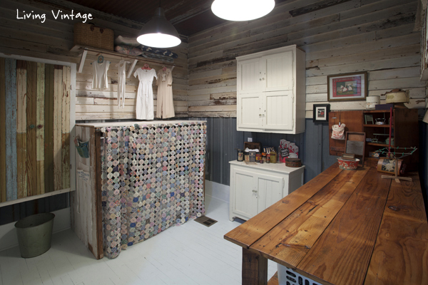 a wonderful, vintage laundry room - lots more photos @ Living Vintage