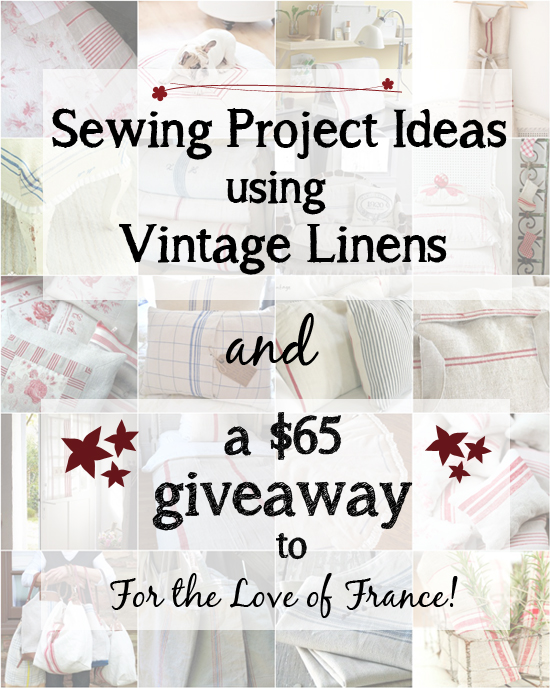Sewing Project Ideas using Vintage Fabrics AND a $65 Etsy shop giveaway