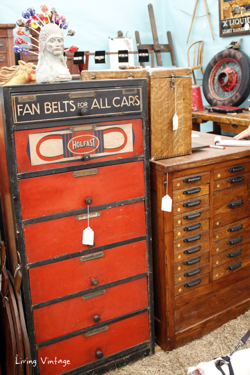 Tobacco Road Primitives always has many multi-drawer and cubby cabinets to drool over