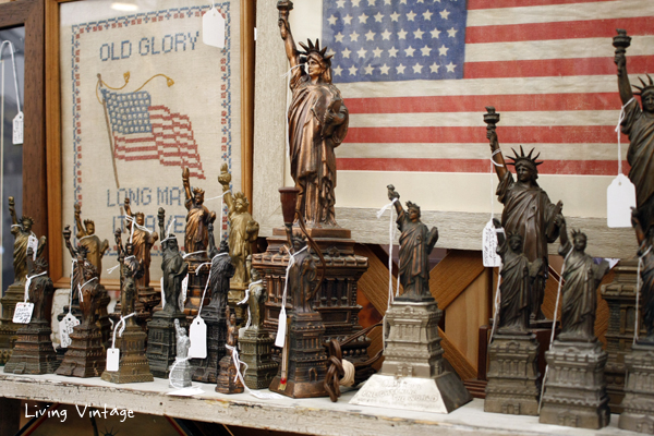 a really fun Statue of Liberty collection spotted in A Wilder Place in Time's booth