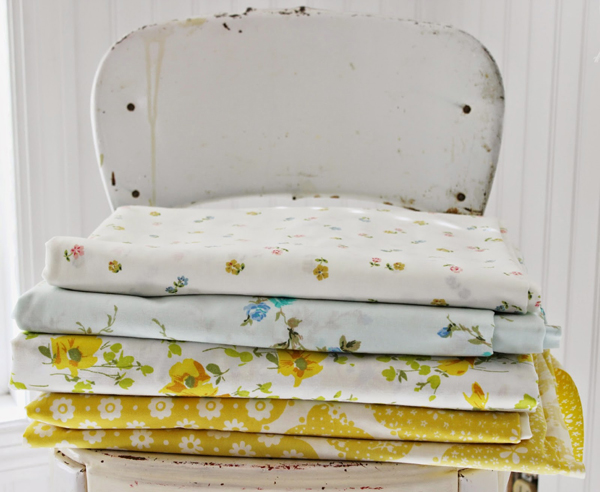 a stack of bright and sunny sheets (guaranteed to make me smile) - one of 8 picks for this week's Friday Favorites