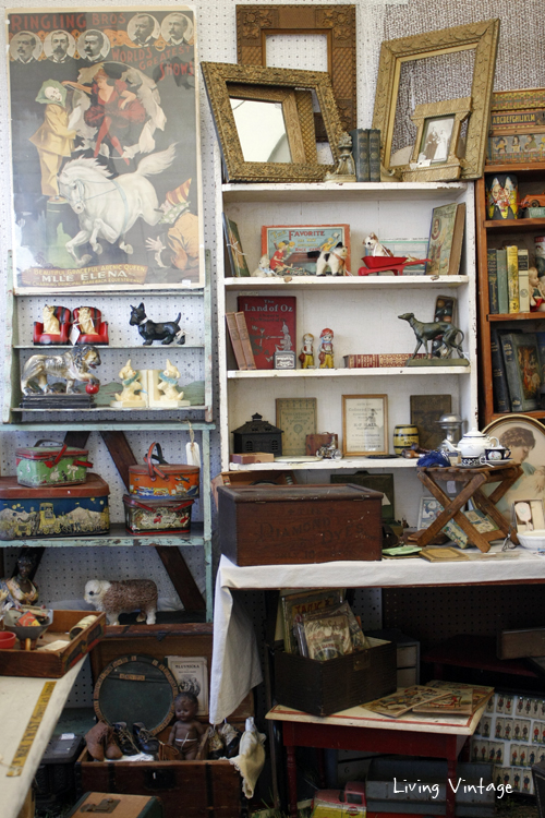a wide shot of Two Sisters Antiques booth