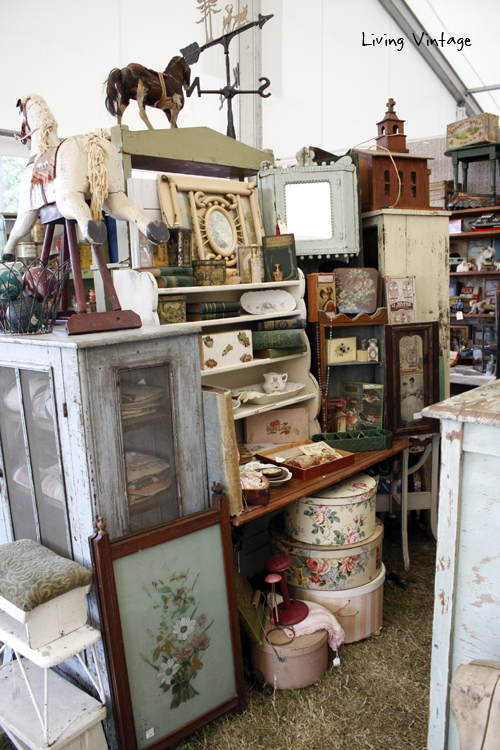 a wide view of Two Sisters Antiques booth
