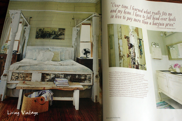 Our home is in the new issue of Flea Market Style