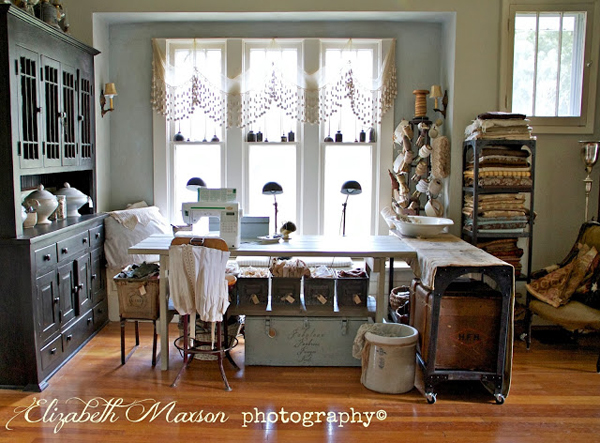 There is so much to love about Elizabeth's gorgeous sewing room! - one of 8 picks for this week's Friday Favorites