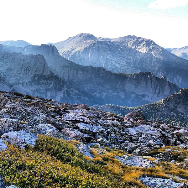 a beautiful mountaintop scene, apparently ram and marmot territory - one of 8 picks for this week's Friday Favorites
