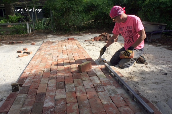 the slow but rewarding process of laying brick