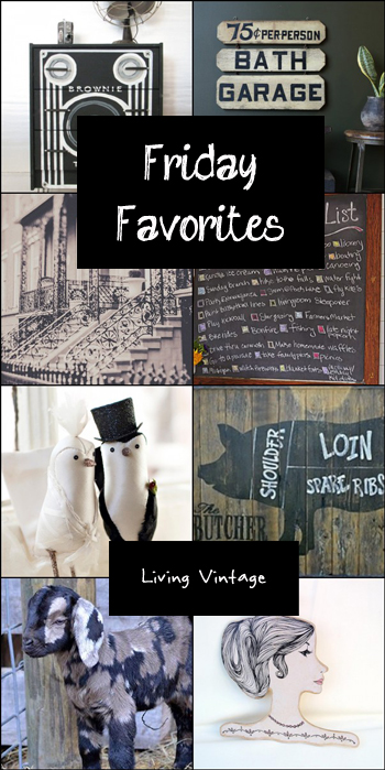 Friday Favorites in black and white | Living Vintage