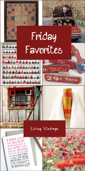 Friday Favorites in bold, happy red