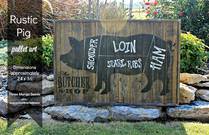very cool butcher shop art made with reclaimed wood - one of 8 picks for this week's Friday Favorites