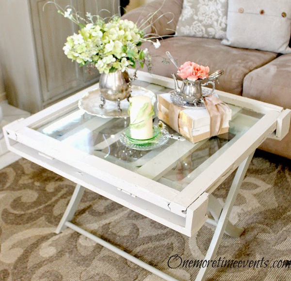 a pretty coffee table created using an old window! - one of 8 picks for this week's Friday Favorites