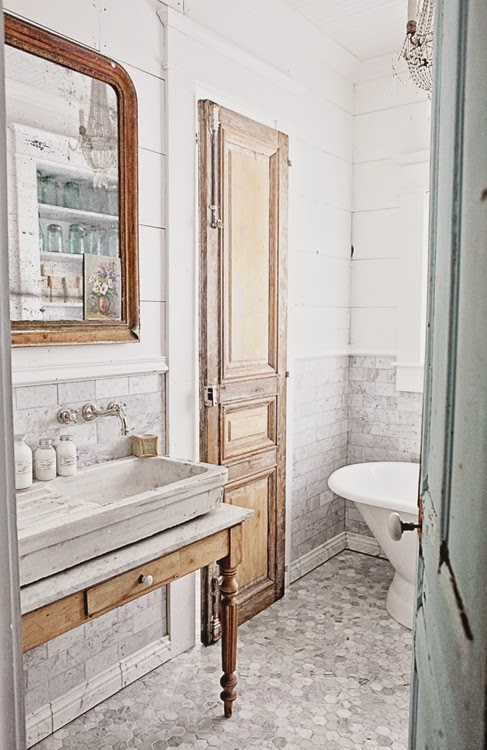a gorgeous French-inspired bathroom - one of 8 picks for this week's Friday Favorites