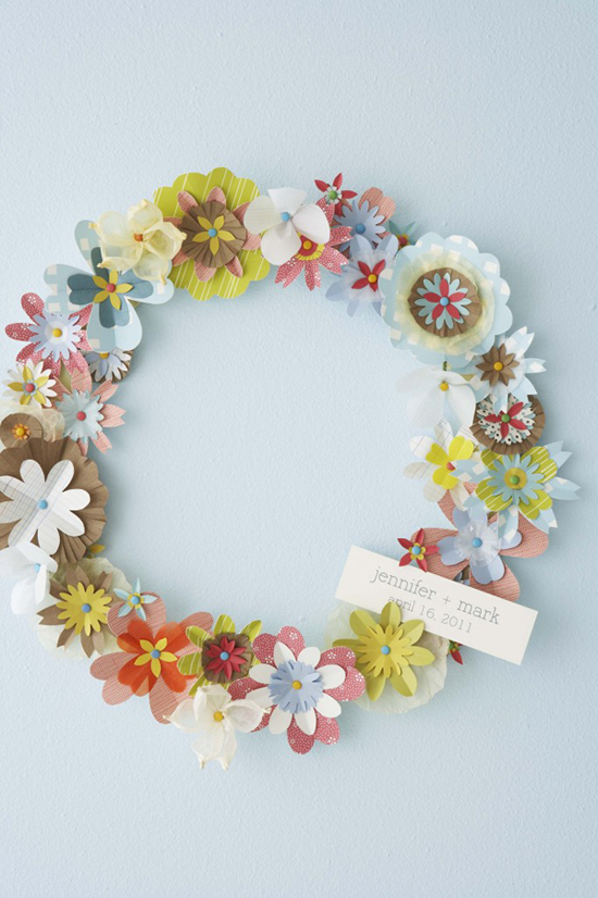 a sweet paper wreath (with a tutorial) - one of 8 picks for this week's Friday Favorites