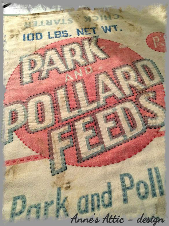 a pretty way to embellish vintage grain sacks - one of 8 picks for this week's Friday Favorites