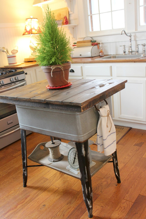 an ingenious kitchen island, made using an old laundry tub -- one of 8 picks for this week's Friday Favorites