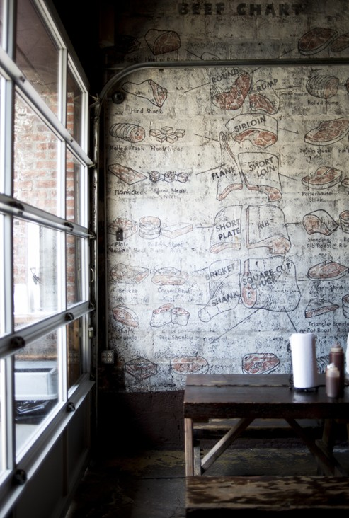 fabulous butcher illustrations on a wall where everyone can enjoy them! - one of 8 picks for this week's Friday Favorites
