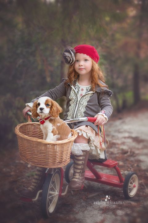 an adorable little girl and her puppy - one of 8 picks for this week's Friday Favorites