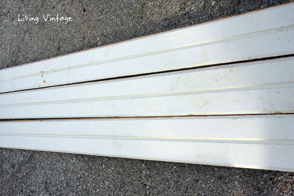 FOR SALE:  275 square feet of off-white V-groove boards.   So pretty on a wall or ceiling!