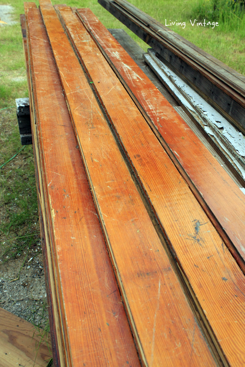 380 square feet of quarter-sawn longleaf pine flooring for sale!