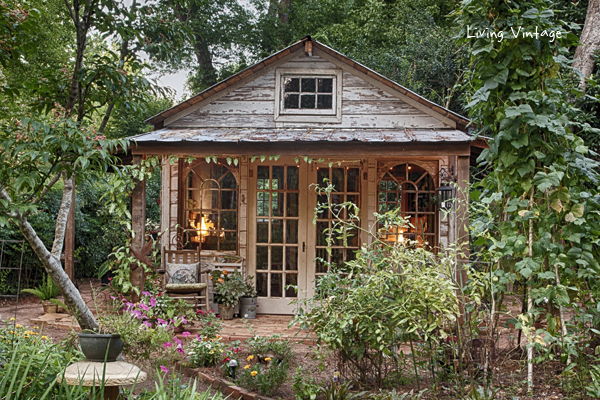 Jenny's adorable potting shed made with reclaimed building materials | Living Vintage