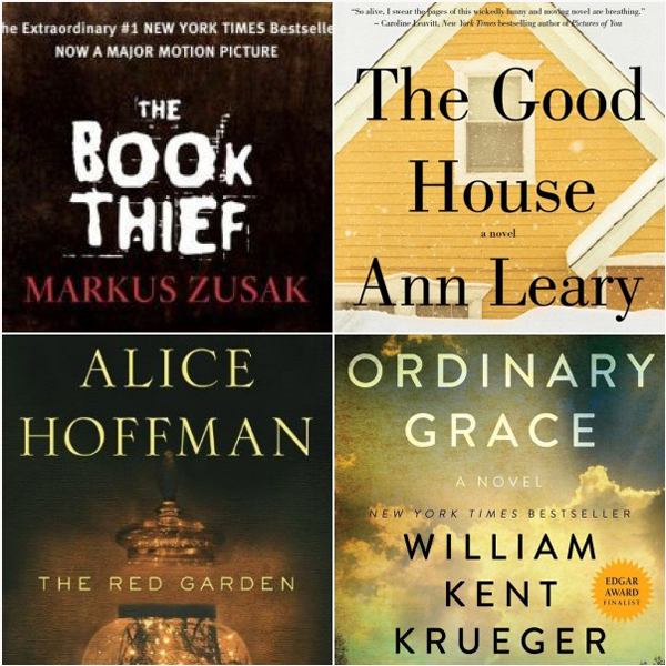 4 books that are on my bedside table. I enjoyed them all!