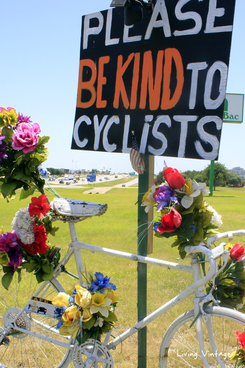 A reminder how fragile life can be. Please be kind to cyclists.