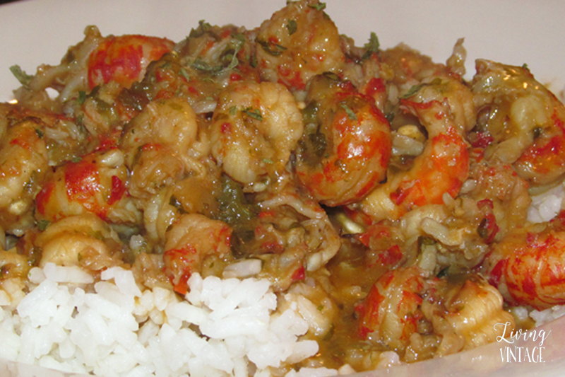 Homemade Crawfish Etouffee - Check out the recipe at Living Vintage