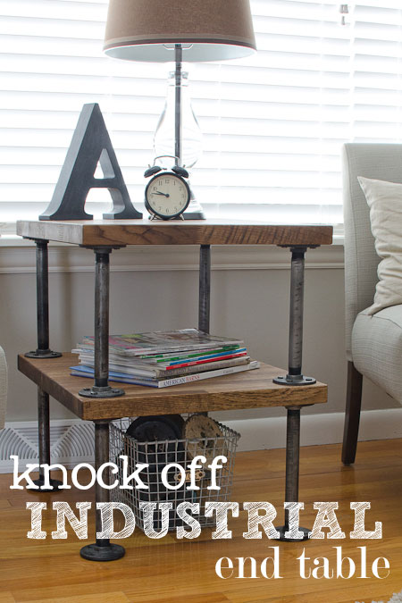 I love this industrial side table (and you can build one, too, using the tutorial) - one of 8 picks for this week's Friday Favorites