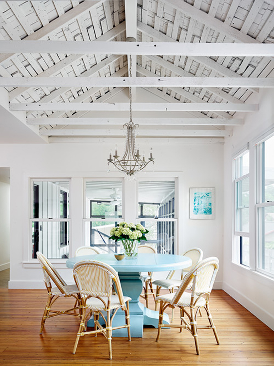 LOVE the ceiling in this dining room! - one of 8 picks for this week's Friday Favorites