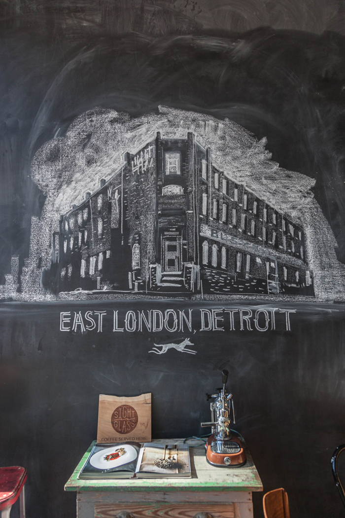 LOVE this chalkboard illustration -- it's displayed in a coffee shop in Detroit | one of 8 picks for this week's Friday Favorites